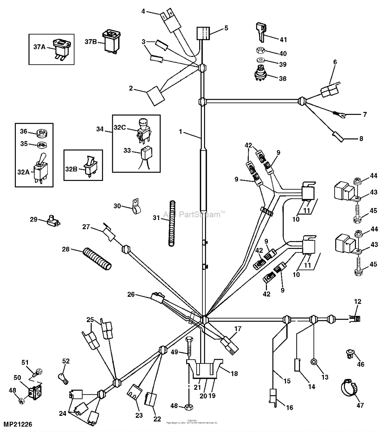 John Deere F525 Wiring Diagram - John Deere Parts Diagrams F525 Front Mower W Out 20f