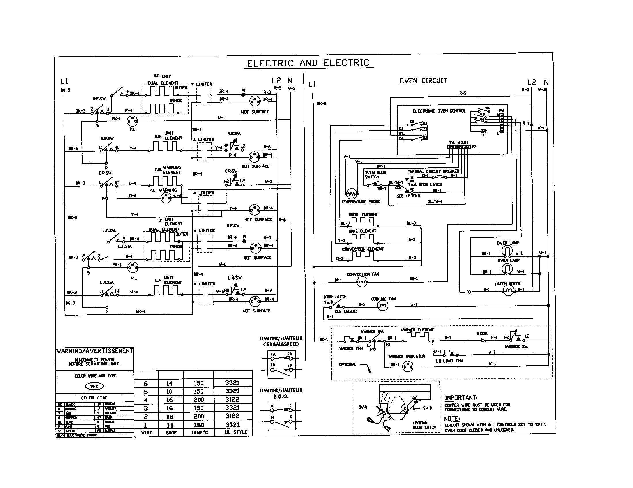 Kenmore Electric Range Wiring Diagram