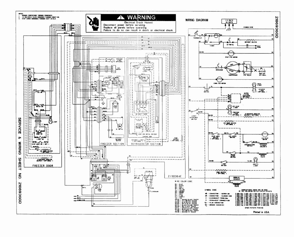 Refrigerator Wiring Diagrams - Auto Electrical Wiring Diagram on