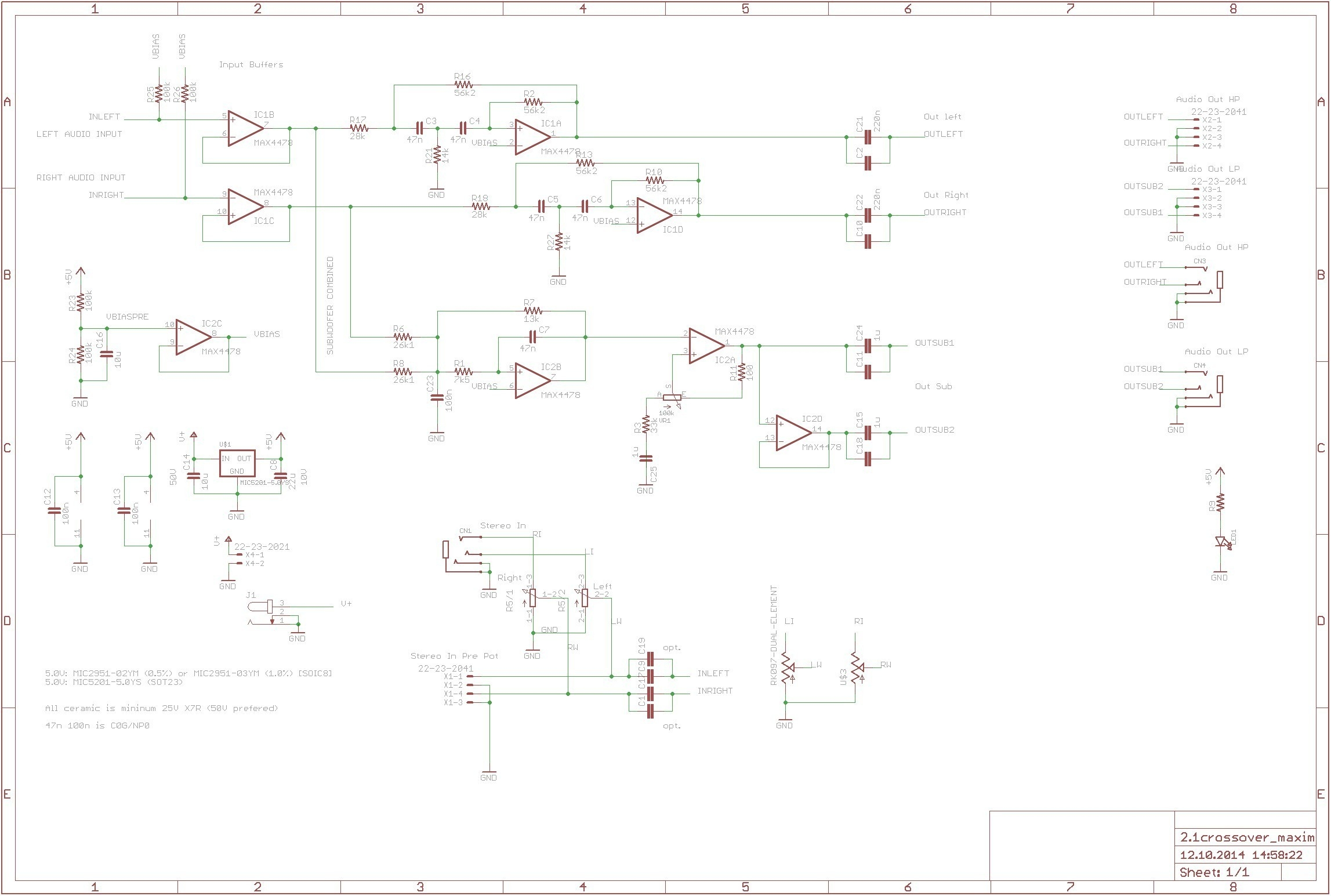 kitchen electrical wiring diagram Collection-Kitchen Electrical Wiring Diagram Aktive Crossoverfrequenzweiche Mit Max4478 360customs Crossover Schematic Rev 0d Wiring Lighting 20-e