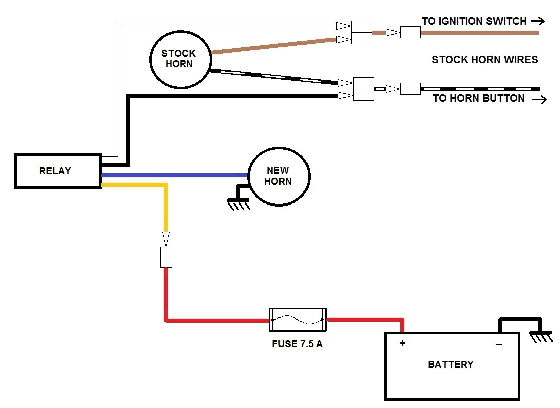 kleinn air horn wiring diagram