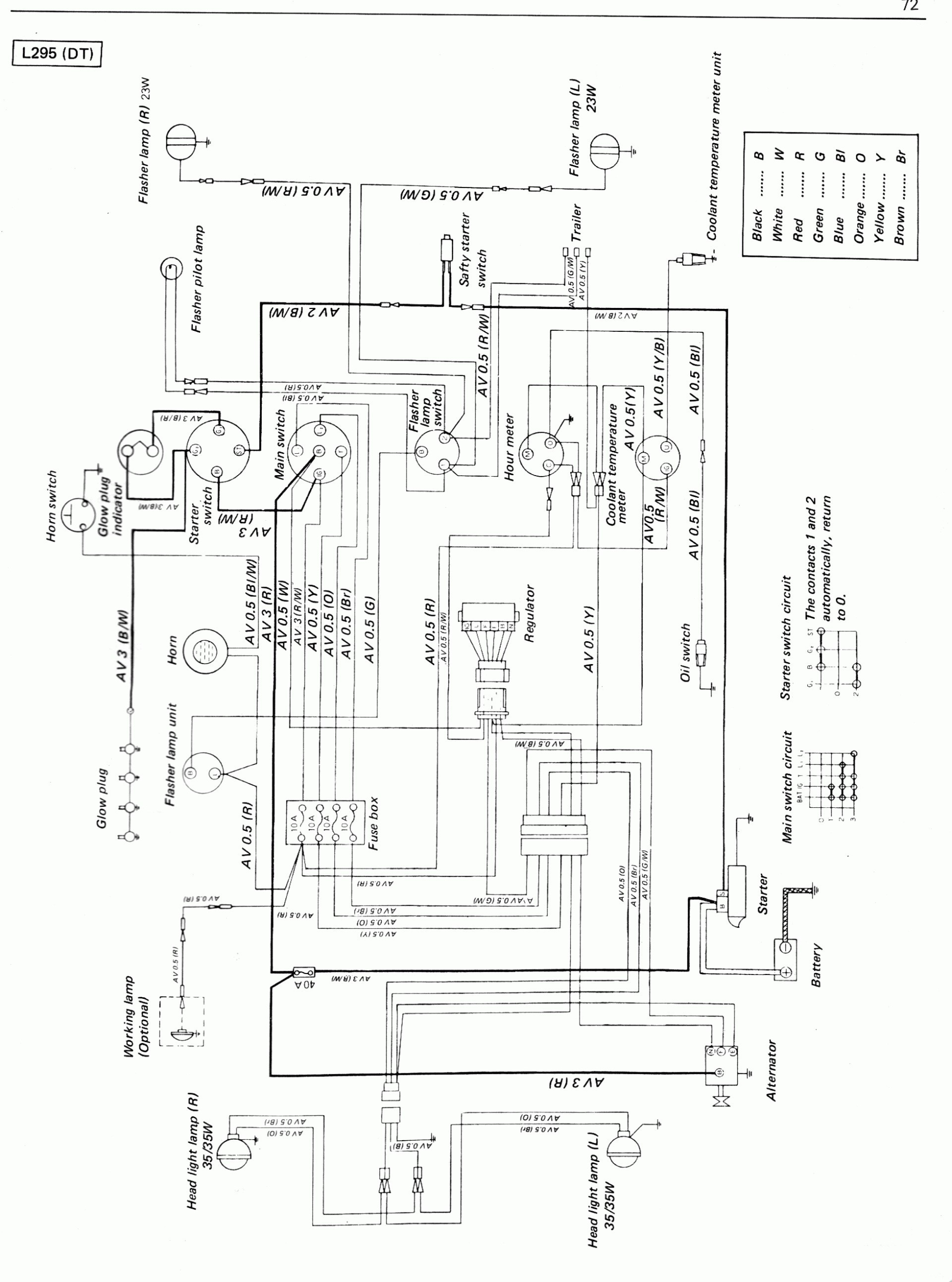 Kubota Ignition Switch Wiring Diagram