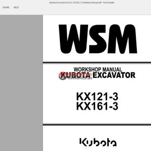 Kubota Kx121 3 Wiring Diagram - Kubota Excavators Kx121 3 Kx161 3 Workshop Manual Auto Repair Rh Autorepairmanuals Ws Kubota Kx121 3g
