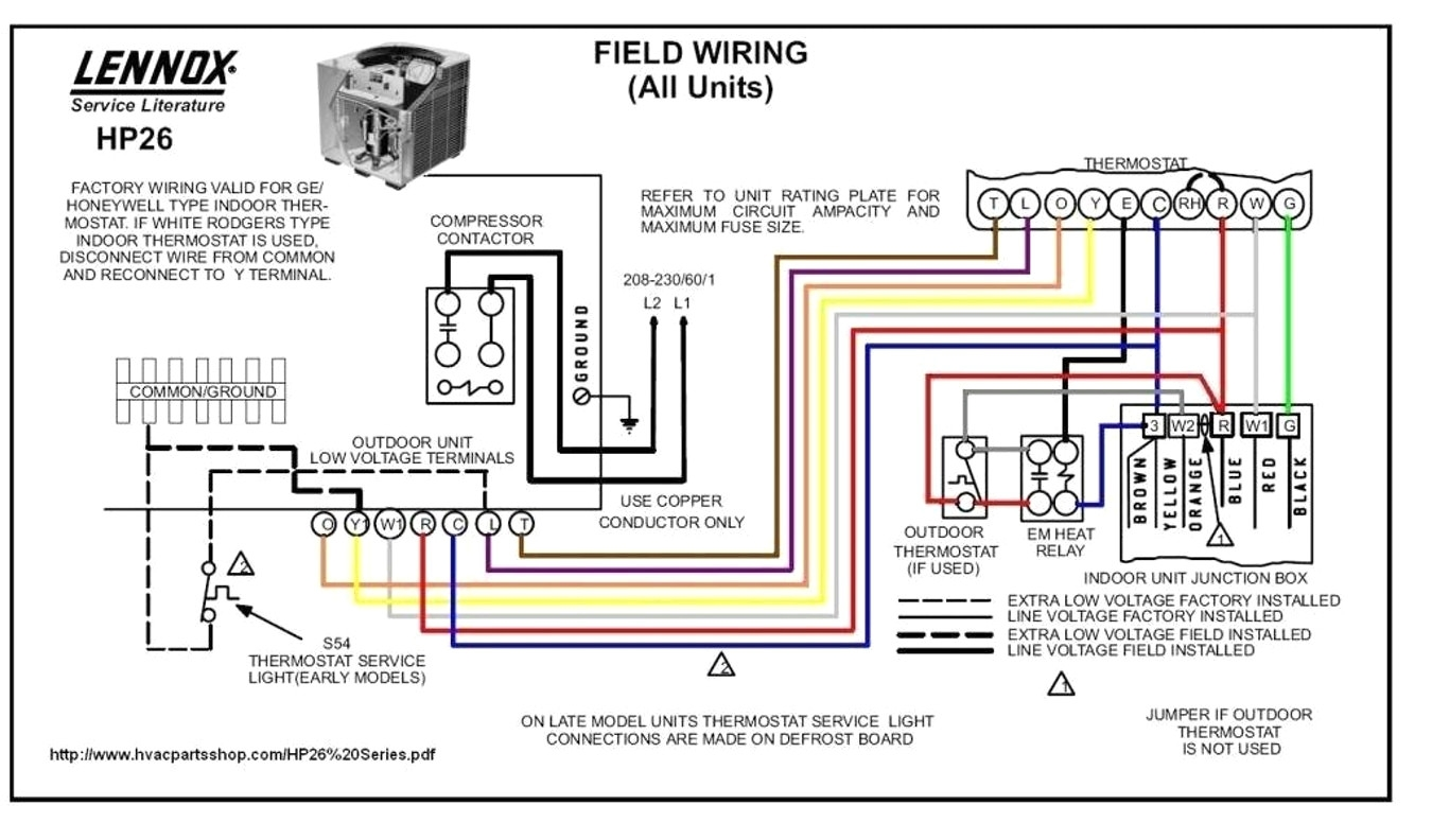 Trane Weathertron Thermostat Wiring Diagram
