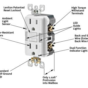 Leviton Gfci Receptacle Wiring Diagram - Leviton Gfci Wiring Diagram Harness 13g