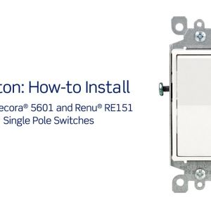 Leviton Switch Wiring Diagram - Leviton Presents How to Install A Single Pole Switch 2o