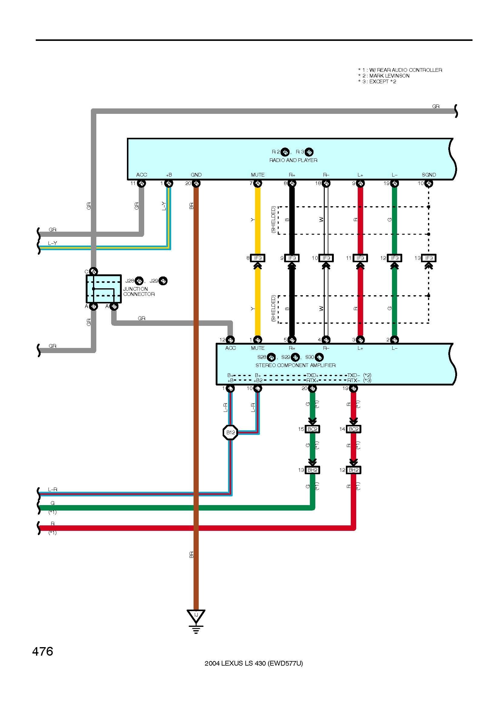 Lexus Stereo Wiring Diagram | Free Wiring Diagram