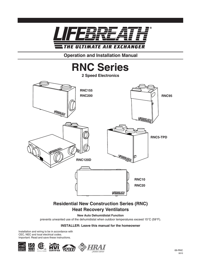 Lifebreath Hrv Wiring Diagram