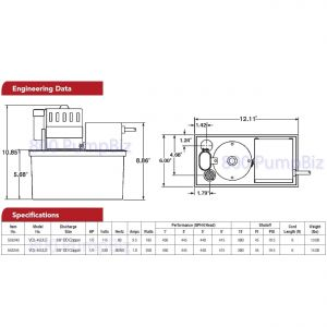 Little Giant Ec 1 Wiring Diagram - Little Giant Vcl 45uls Condensate Pump Dimensions Flow 8l
