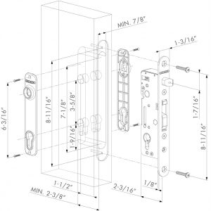 Locknetics Maglock Wiring Diagram - Locinox H Metal Wb Mortise Lock for ornamental Gates Fits Welding Locknetics Maglock Wiring Diagram 13o
