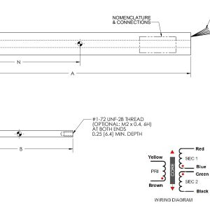 Lvdt Wiring Diagram - Ac Lvdt Linear Position Sensor La 9 5 Series 12p