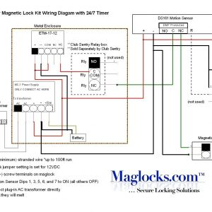 Magnetic Door Contact Wiring Diagram - Magnetic Door Lock Wiring Diagram Lesevefo 8s