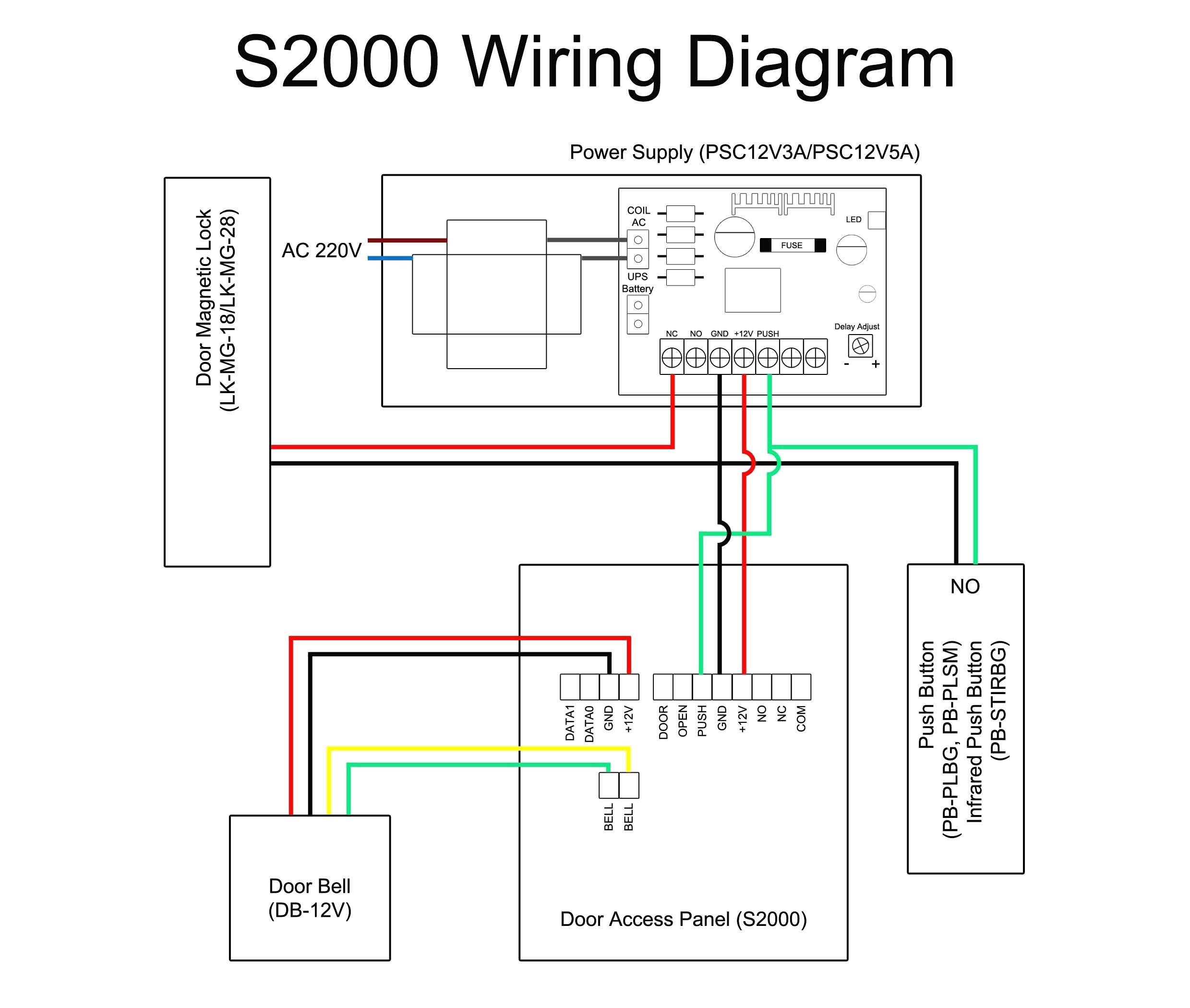 Magnetic Door Lock Wiring Diagram
