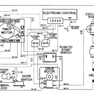 Maytag Dryer Wiring Schematic - Dryer Motor Wiring Diagram 14i