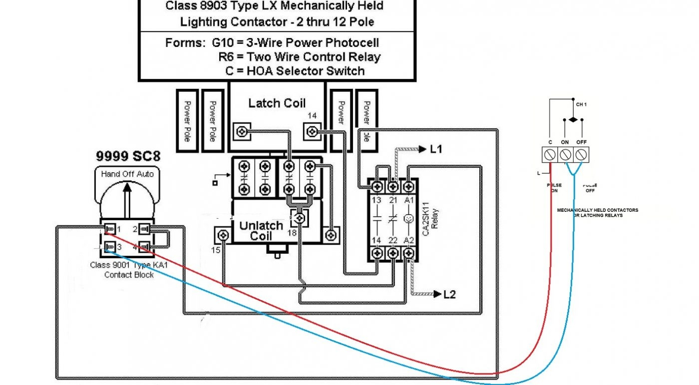 Mechanically Held Lighting Contactor Wiring Diagram