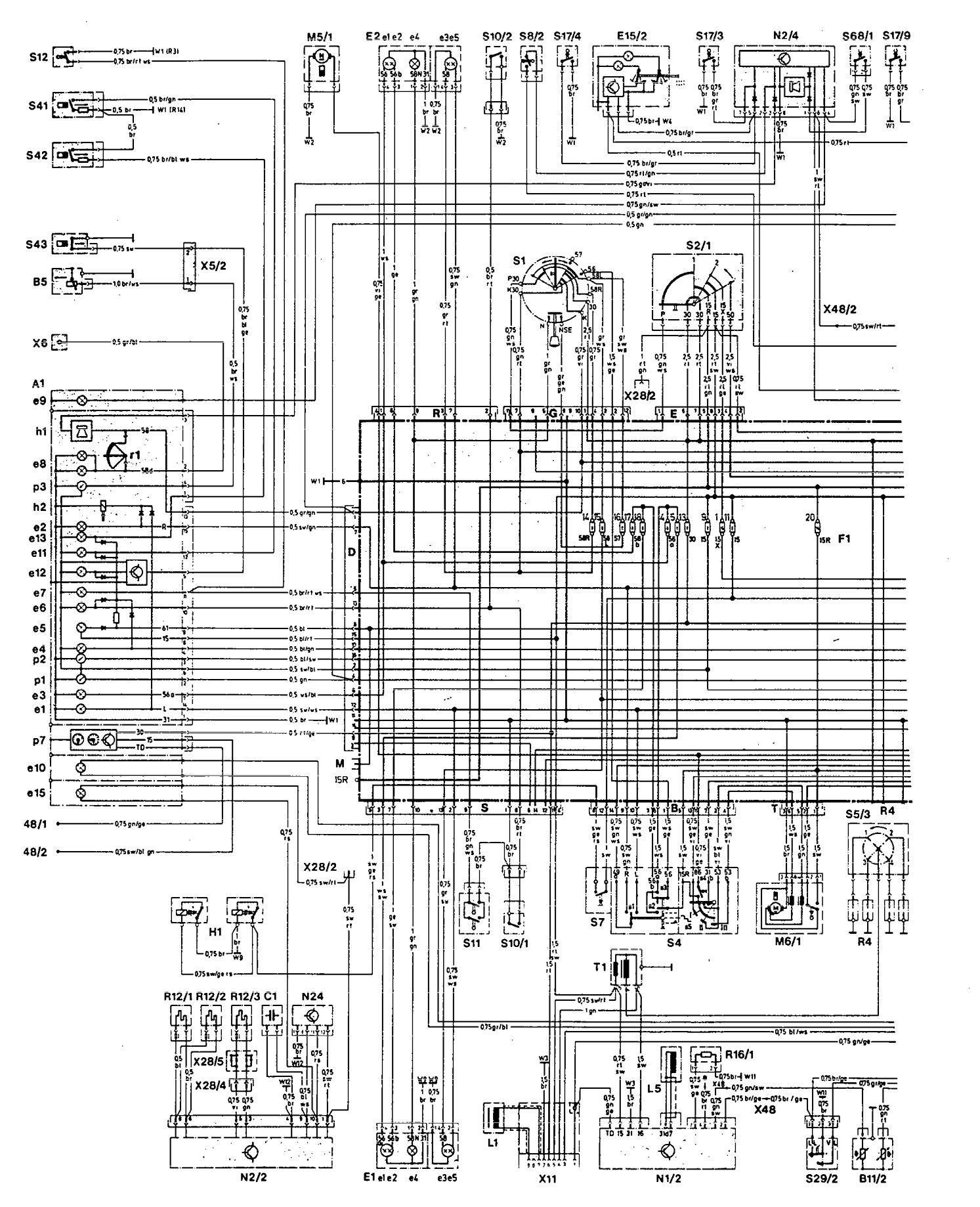 Diagram  Mercedes Benz Wiring Diagrams W107 Full Version