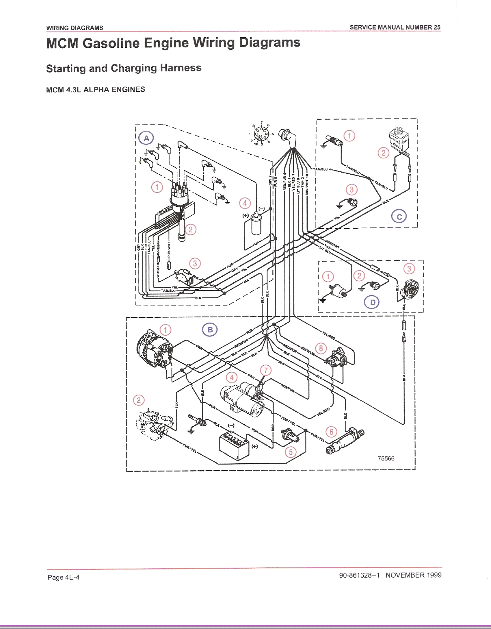 mercruiser 4 3 wiring diagram
