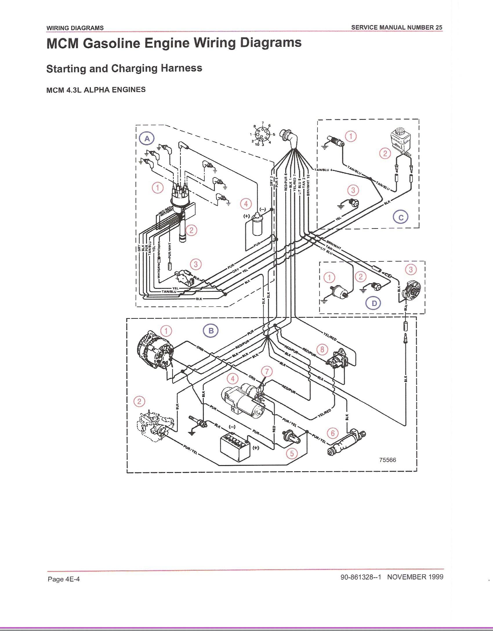 mercruiser ignition wiring diagram