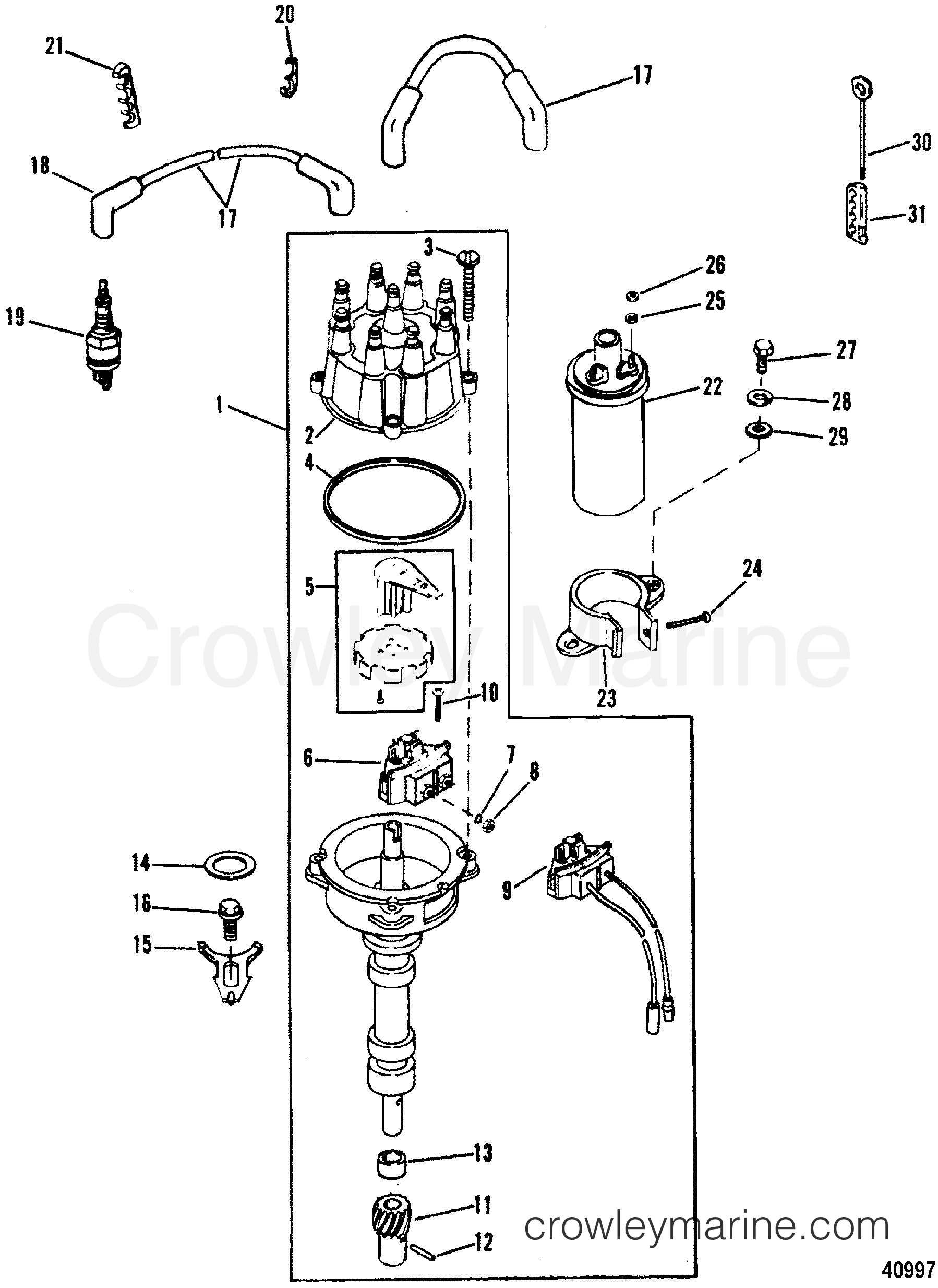 mercruiser ignition wiring diagram Download-mercruiser 5 7 wiring diagram Collection 1988 Mercury Inboard Engine 5 7L [SKI] AS 13-l