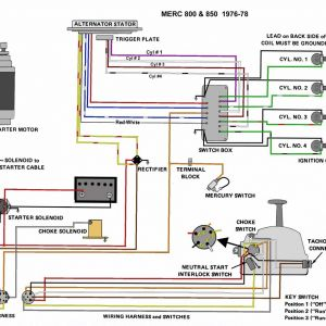 Mercury Outboard Wiring Diagram Schematic - 1995 Mercury Outboard 60 Hp Wiring Harness Diagram Line 13k