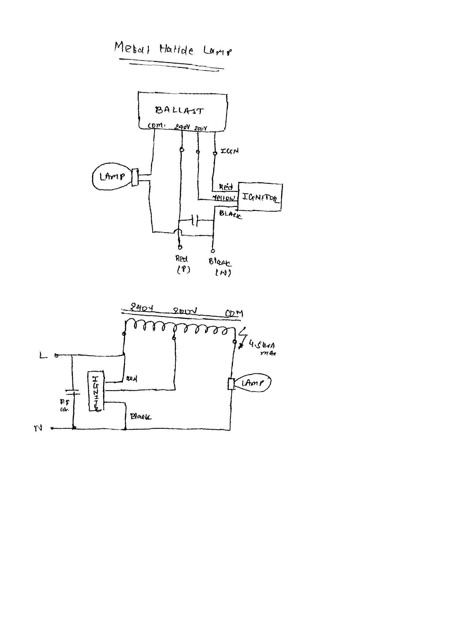 Mh Ballast Wiring Diagram Free Hid For Metal Halide Lights Top Rated High Pressure Sodium
