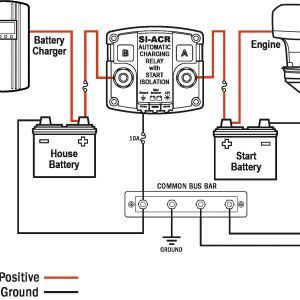 Minn Kota Onboard Battery Charger Wiring Diagram - Boat Dual Battery Switch Wiring Diagram and Throughout Marine Battery isolator Wiring Diagram 14m
