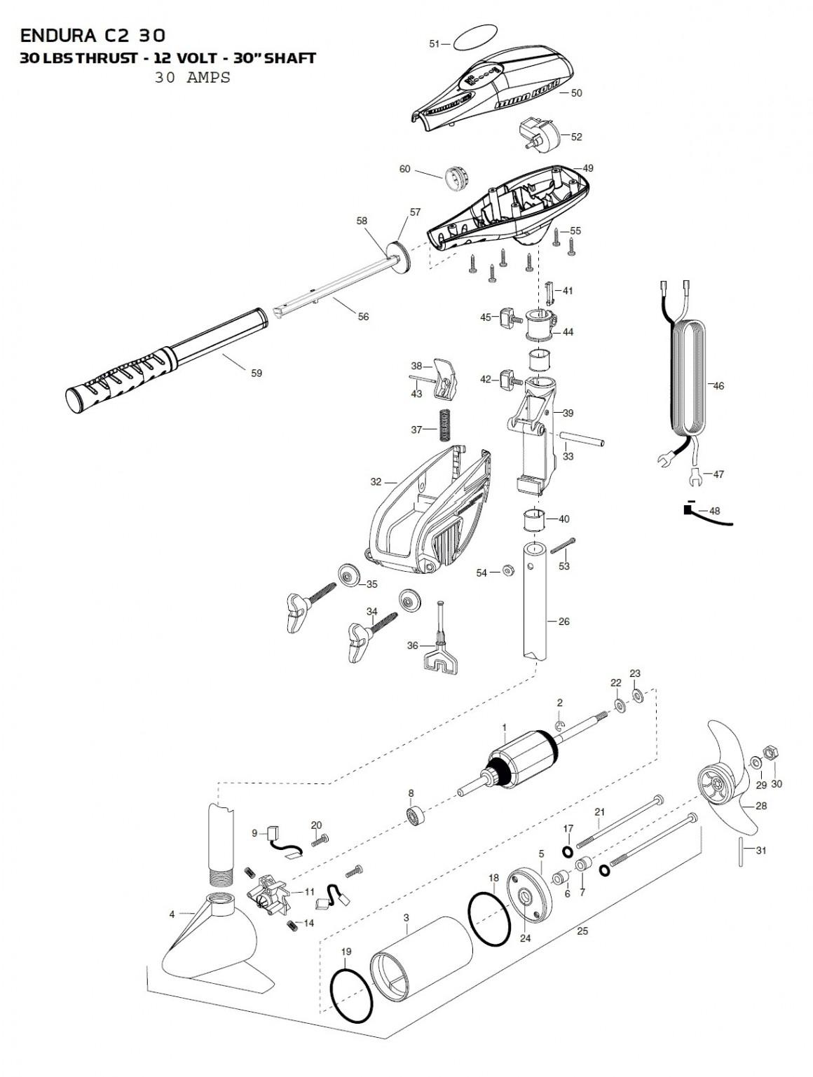 minn kota riptide wiring diagram Collection-Minn Kota Parts Diagram 19-t