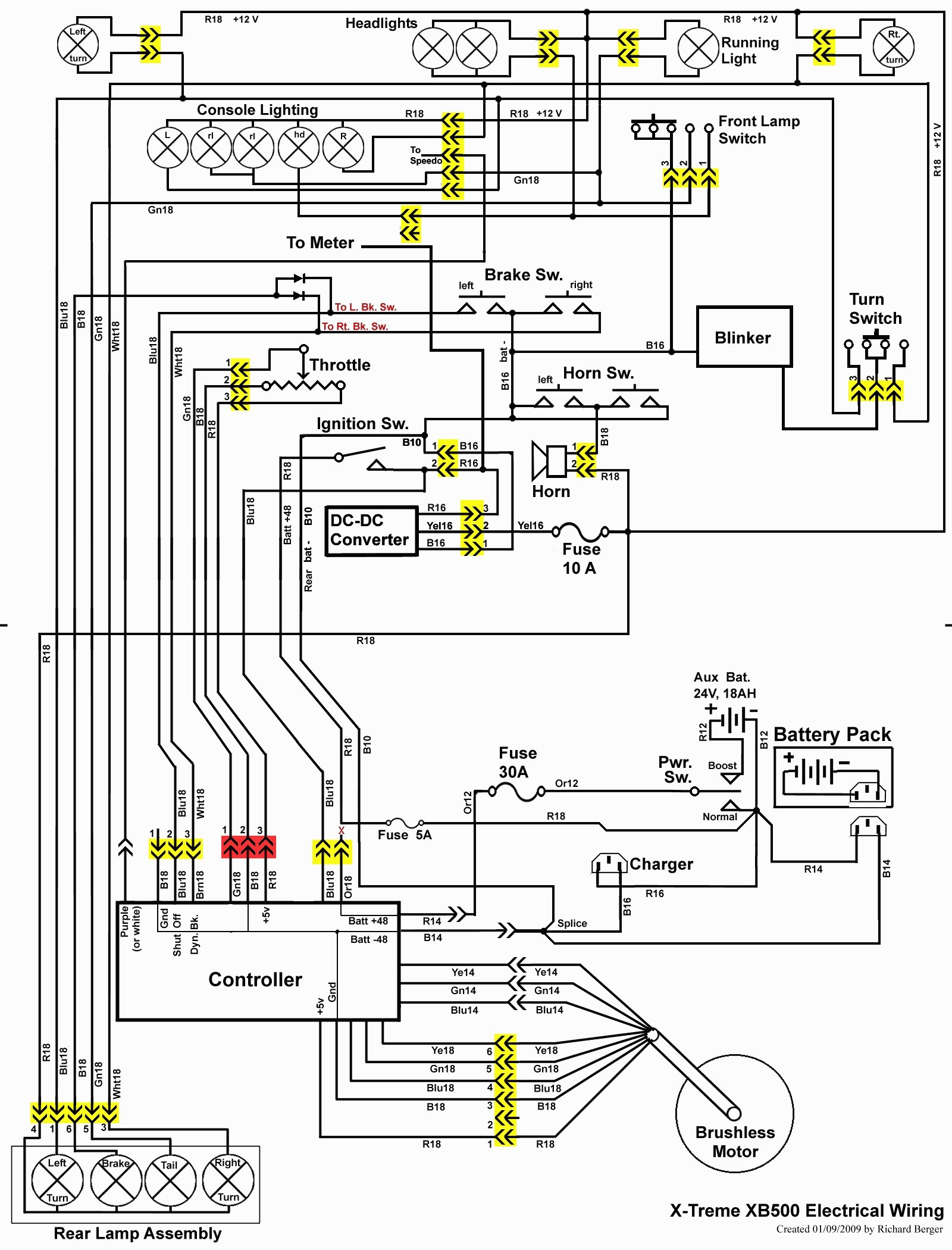 mobility scooter wiring diagram - wiring diagram electric scooter new baja  scooter 48 volt wiring schematic