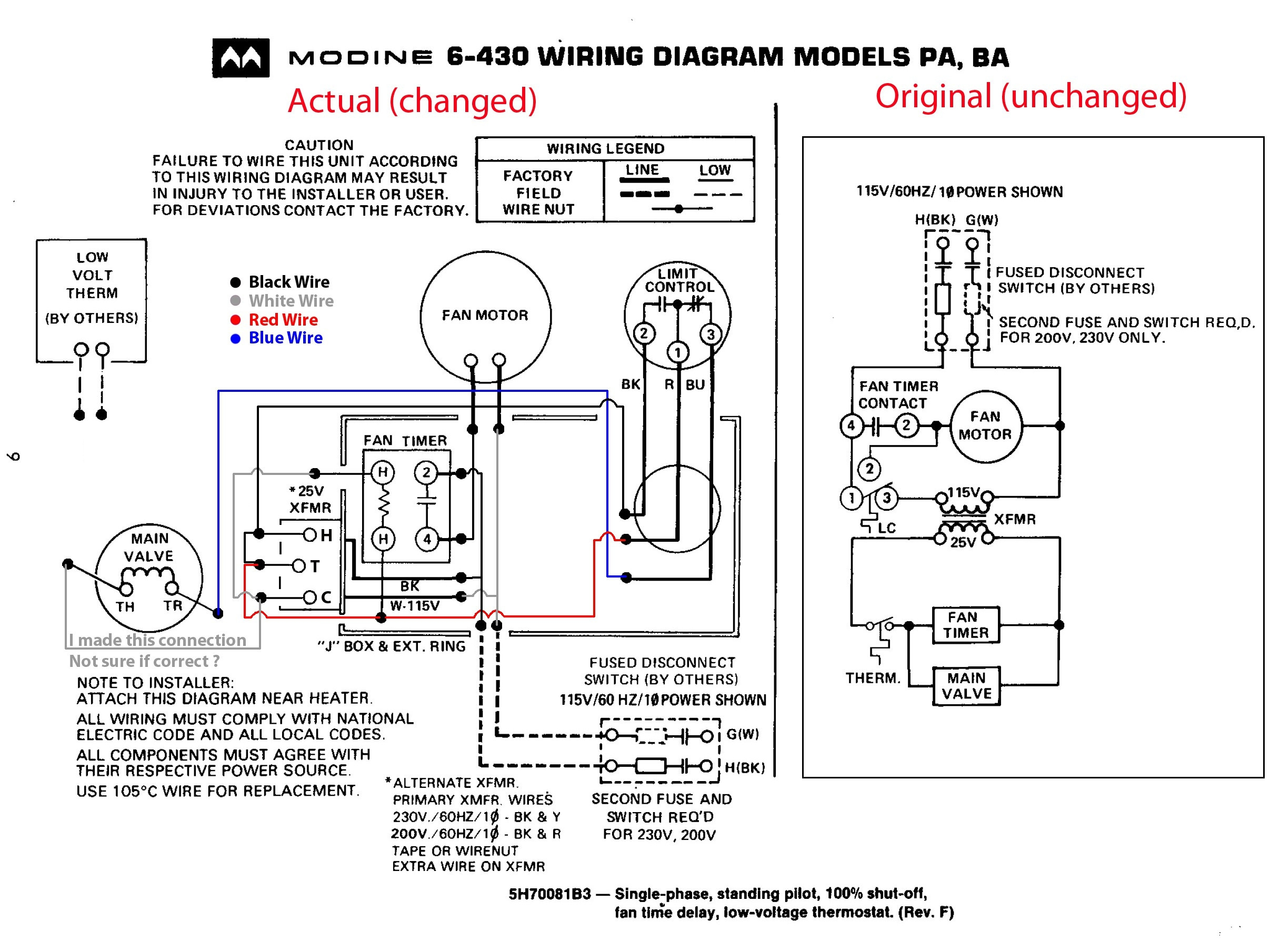 modine unit heater wiring diagram Collection-unit heater wiring diagram wire center u2022 rh daniablub co Gas Furnace Thermostat Wiring Diagram Mobile Home Furnace Wiring Diagram 16-m