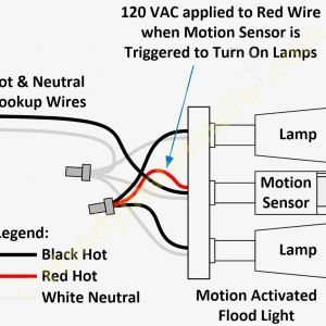 Motion Sensor Light Wiring Diagram - Wiring Diagram for Motion Light Sensor Unusual 4m