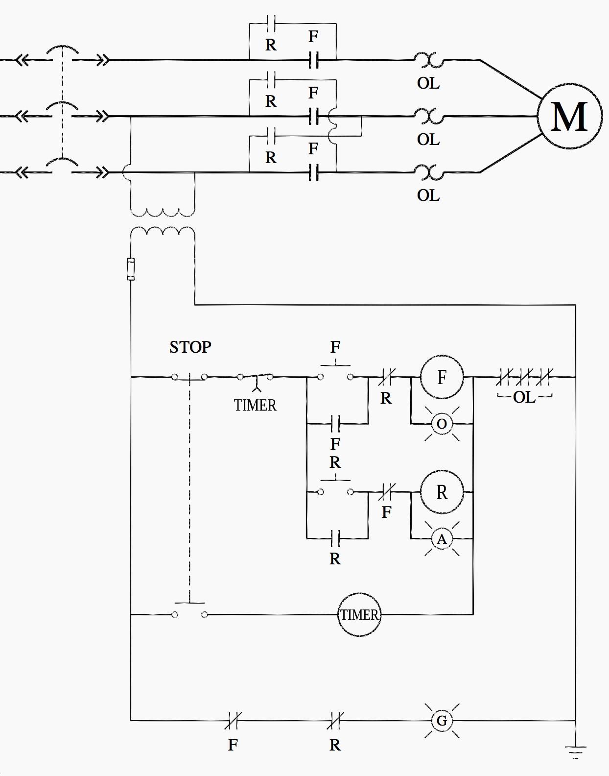 Motor Starter Wiring Diagram Start Stop Free Relay Ladder Inspirationa