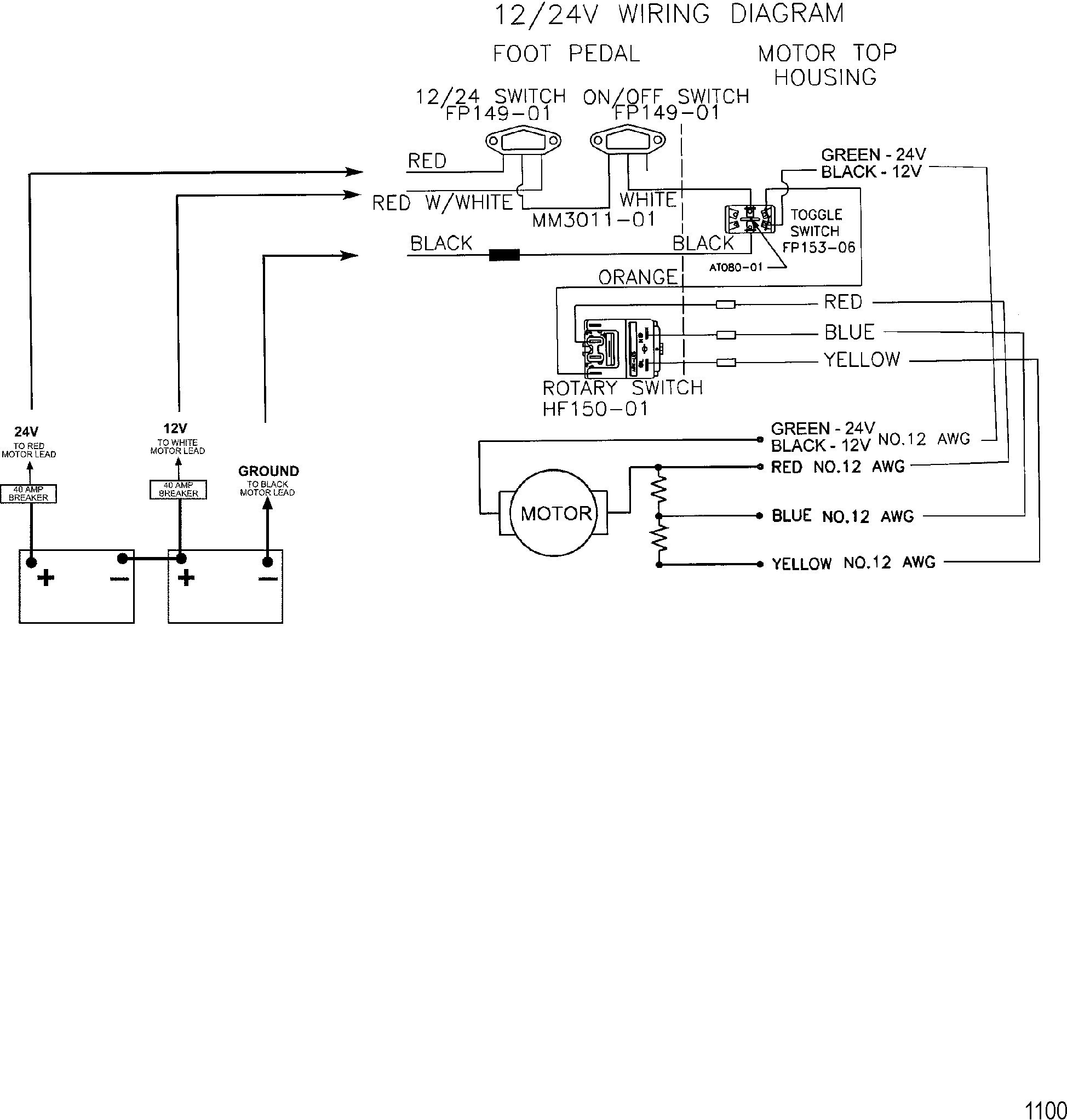 Foot Wire Diagram | Wiring Diagram  Wire Minn Kota Wiring Diagram on