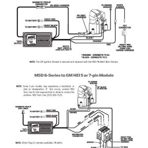 Msd 6425 Wiring Diagram - Msd Hei Distributor Wiring Diagram Wire Center • 17a