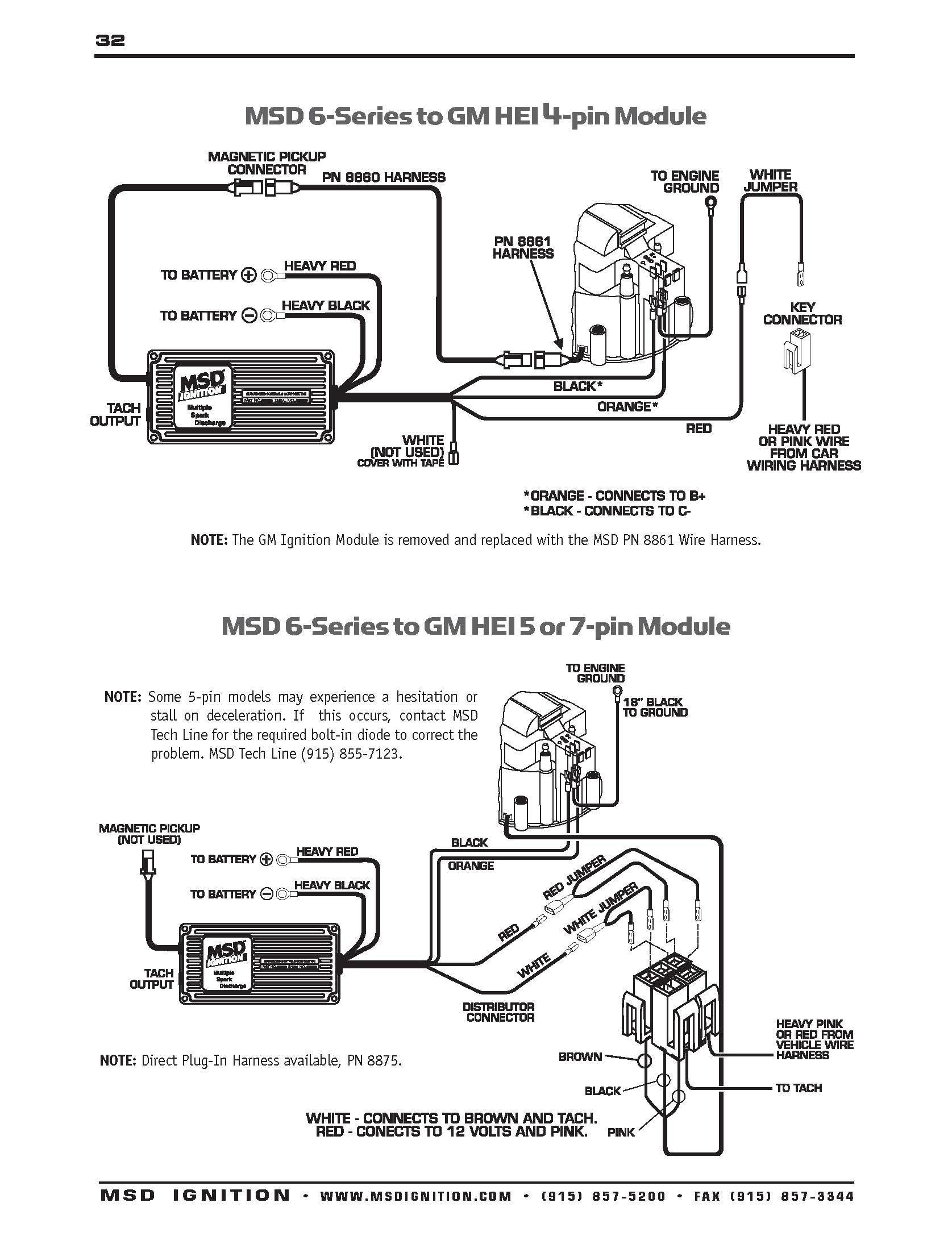 msd 6al wiring diagram Collection-Msd 6Al To Hei Wiring Diagram At A 6al Box 9-q