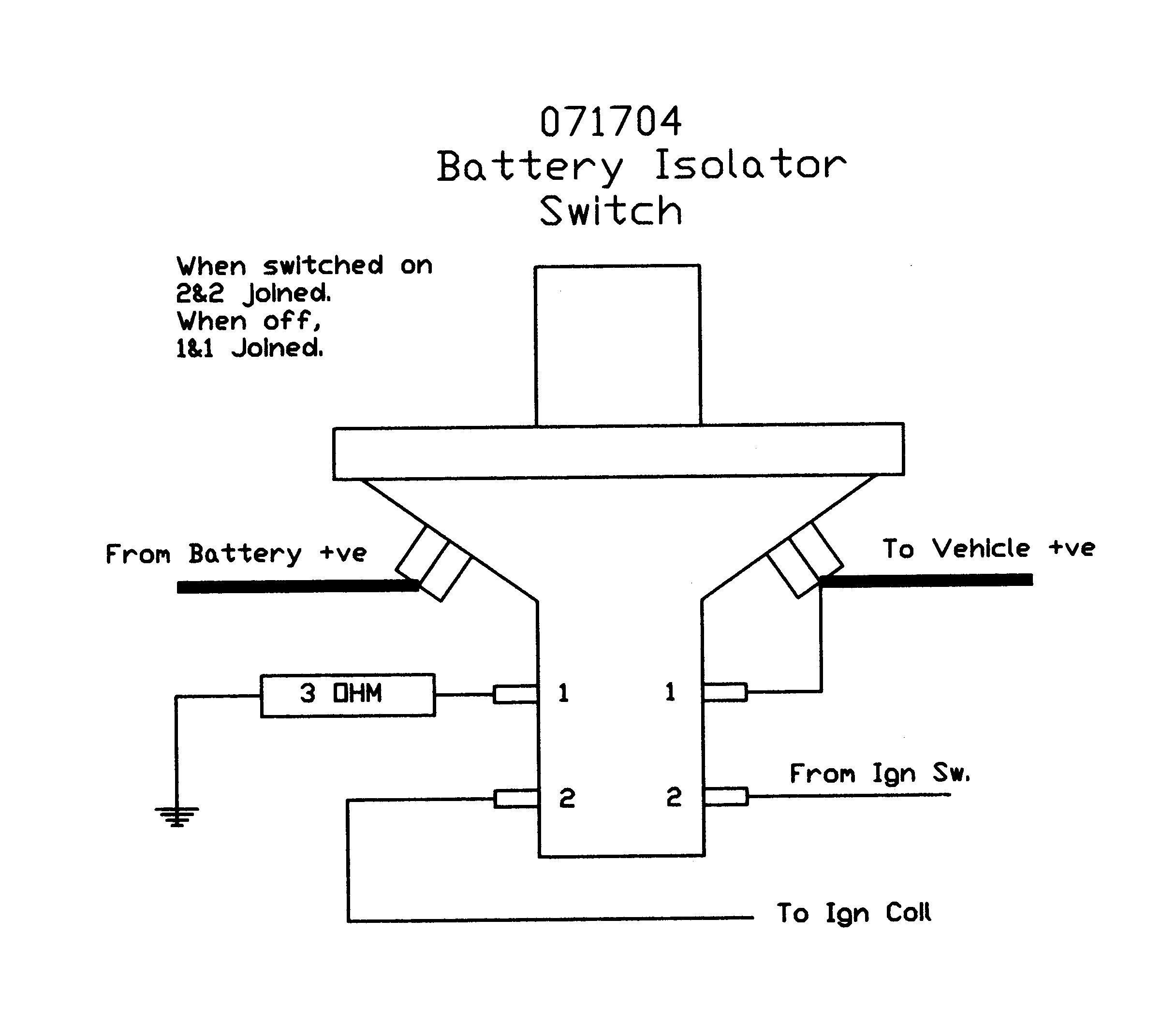 Multi Battery Isolator Wiring Diagram