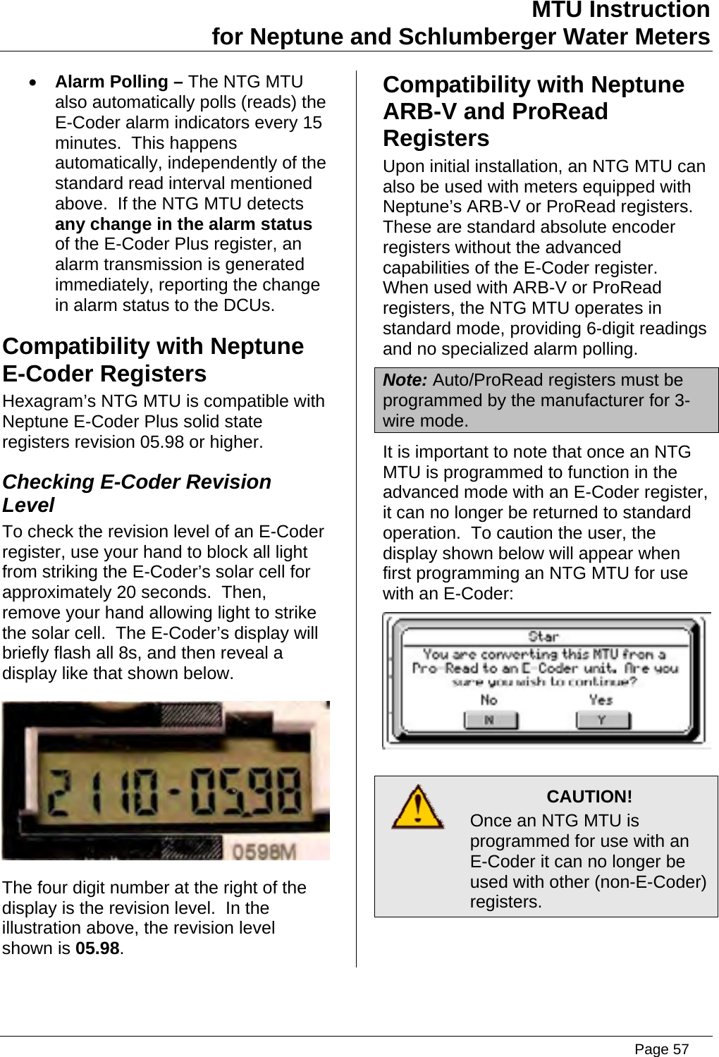 Neptune Water Meter Wiring Diagram Free All Mode Wireing Page 57 Of Transmitter For Reading User Manual Installation