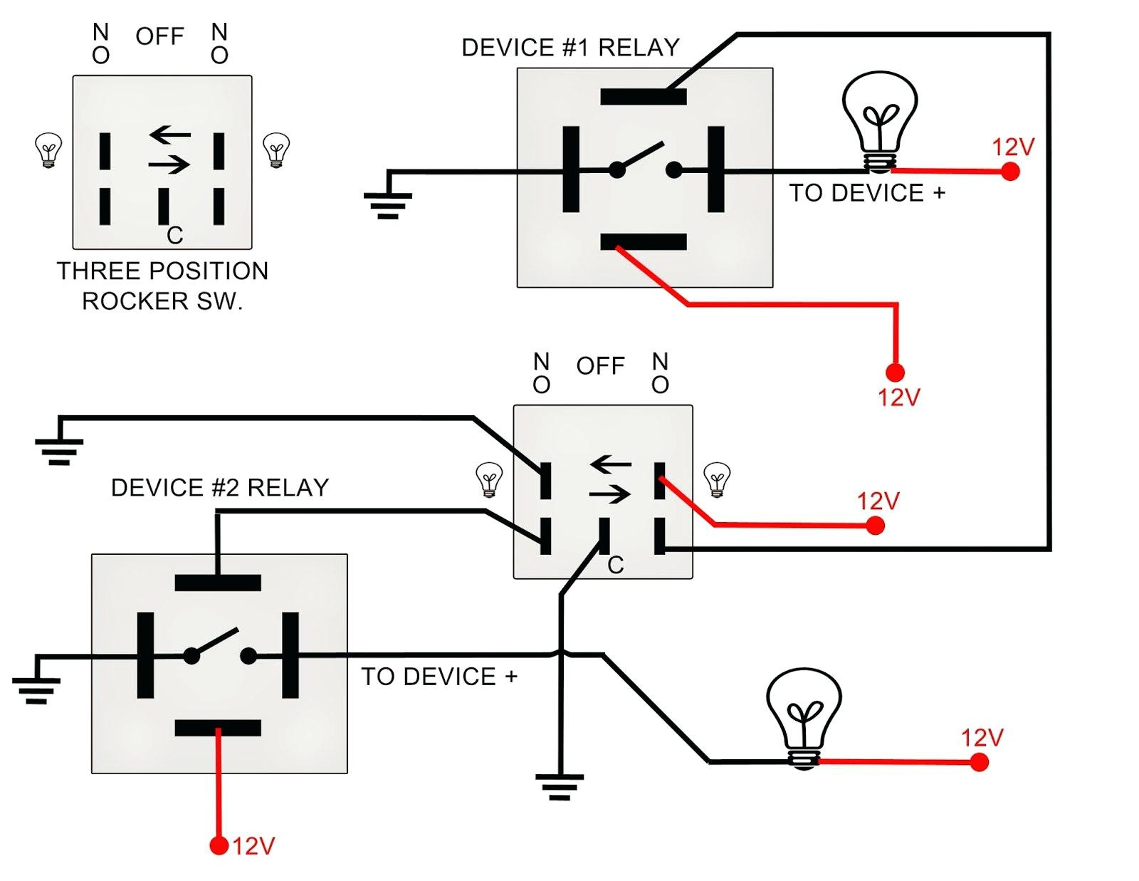 switch diagram wiring relay 240v schematic toggle rocker pole led diagrams downlights latching single wire light switches schematics rider knight