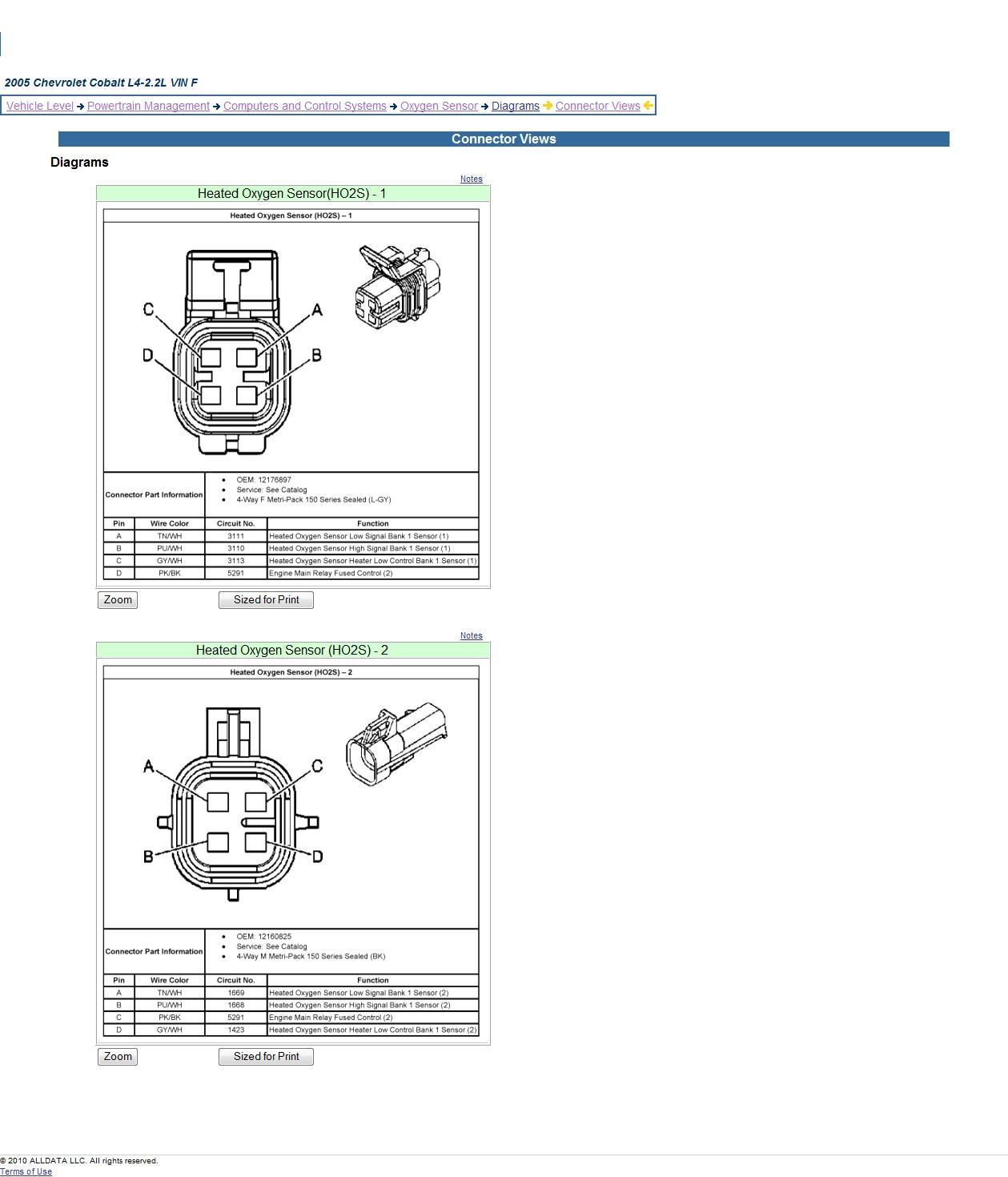 07 Chevy Silverado 02 Sensor Wiring Diagram | Wiring Diagram on
