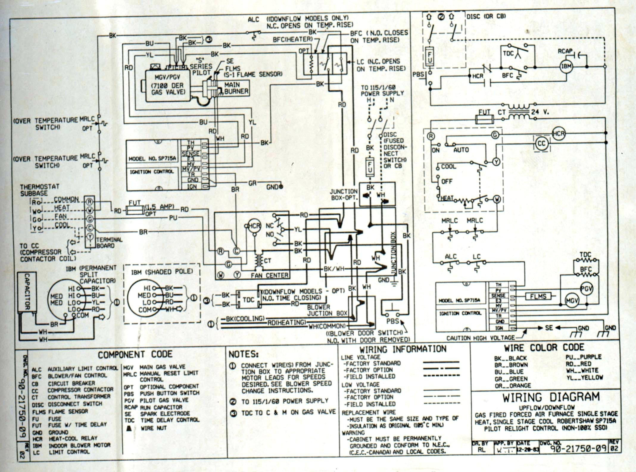 Payne Package Unit Wiring Diagram