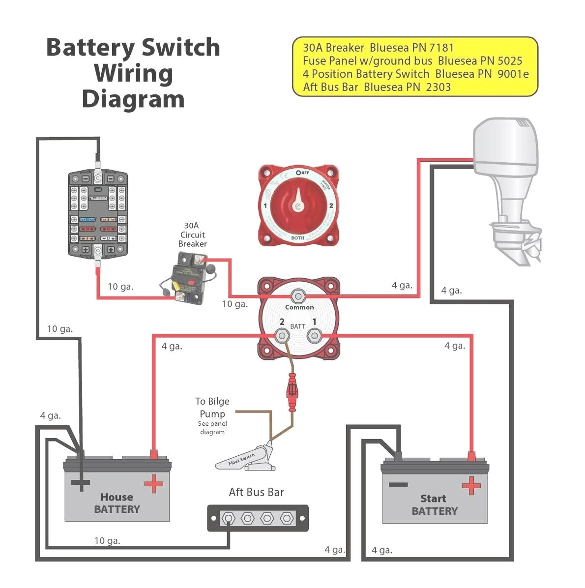 Perko Battery Switch Wiring Diagram - Dual Battery Switch Wiring Diagram Daigram In Perko 19m