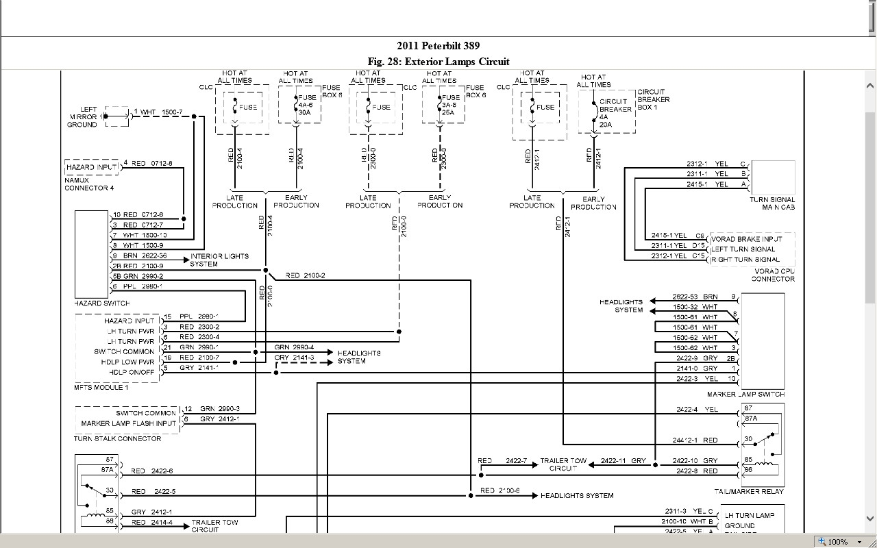 Peterbilt 389    Wiring    Schematic   Free    Wiring       Diagram