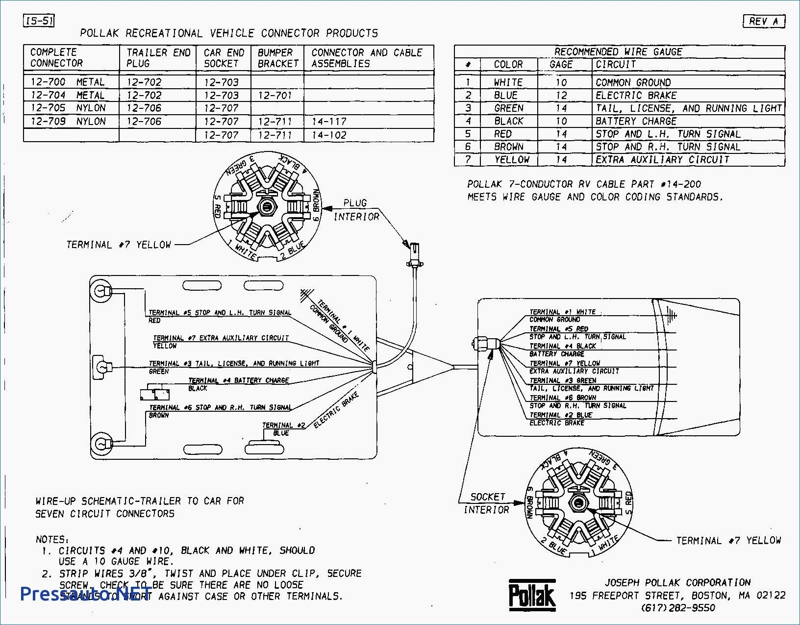 phillips 7 way trailer plug wiring diagram - wiring diagram for a 7 pole trailer  plug