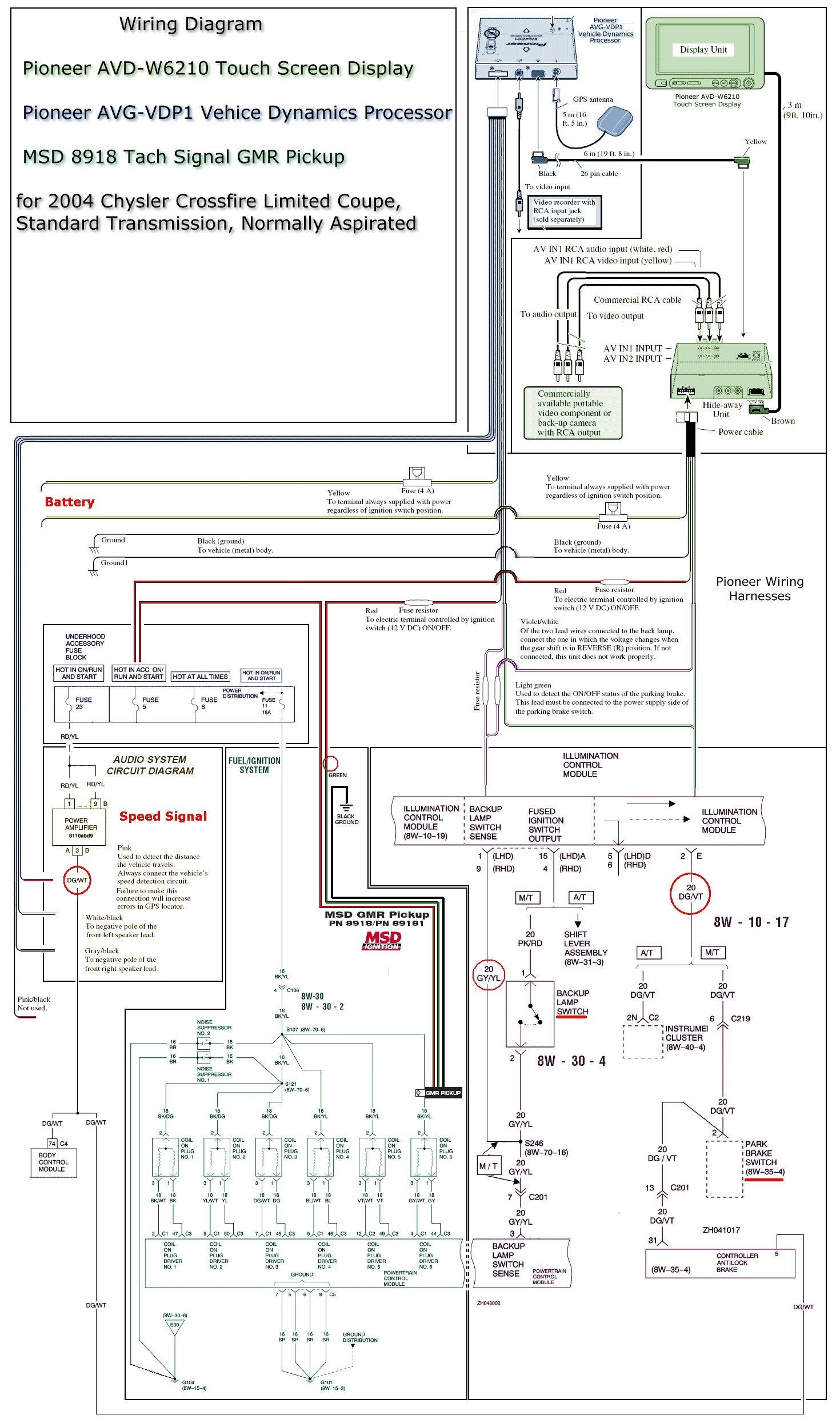 30 Pioneer Avh 280bt Wiring Diagram