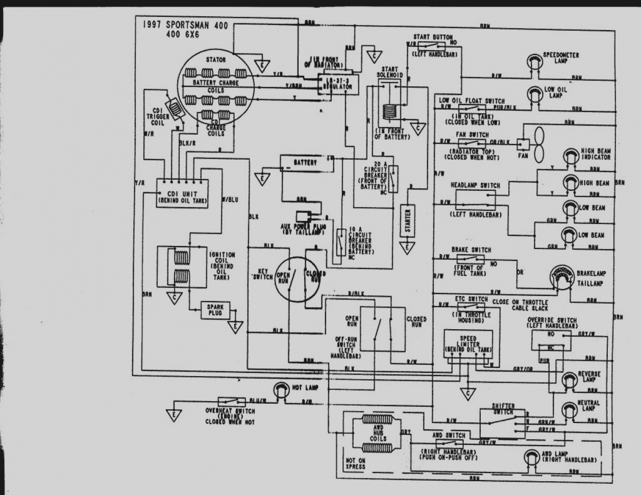 polaris ranger electrical schematic wiring diagram for polaris ranger 700 efi #7