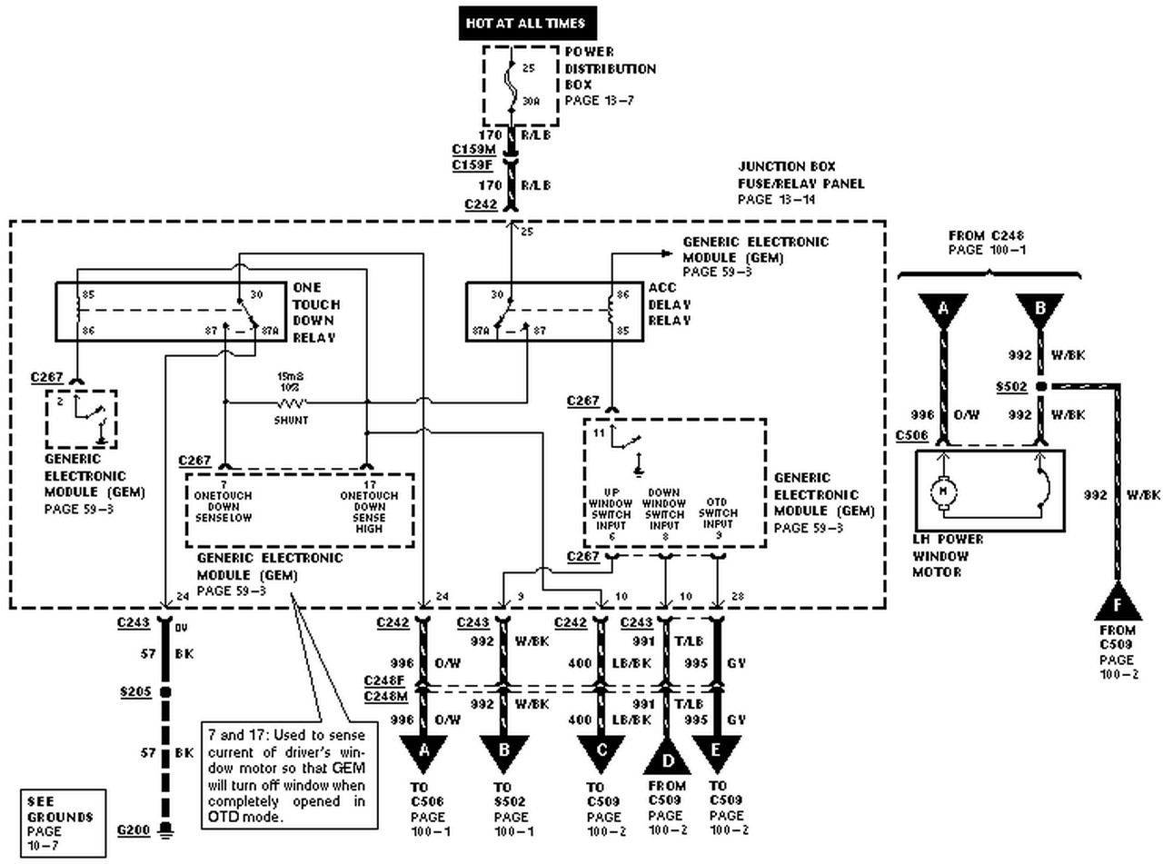 power window switch wiring schematic Collection-power distribution box with generic electronic module and one truck rh videojourneysrentals Ford Expedition Radio Diagram Light Switch Wiring Diagram 20-g
