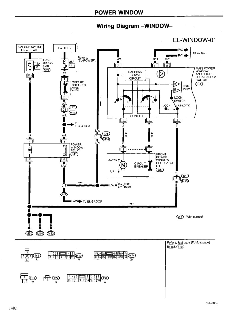 power windows wiring diagram Download-2004 Nissan Altima Power Window Wiring Diagrams Schematics 12-k