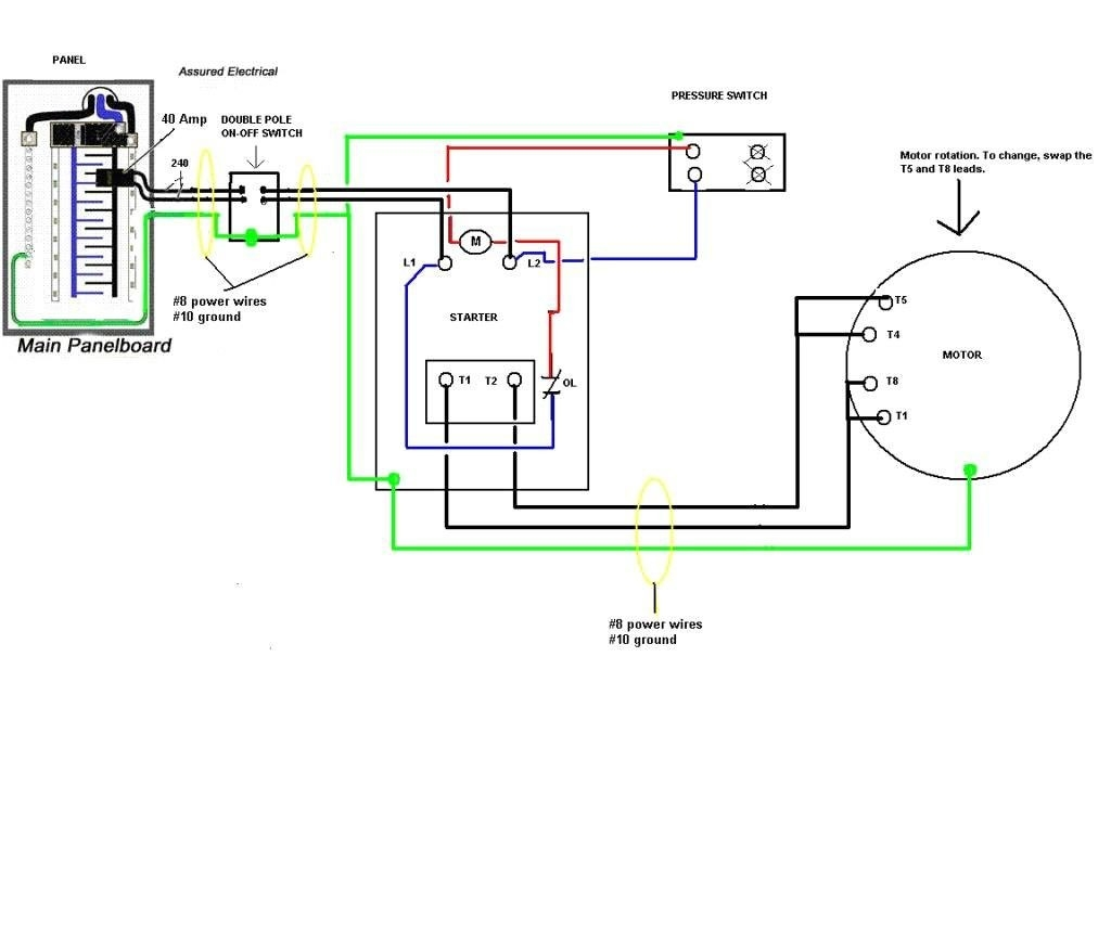 Pressure Switch Wiring Diagram Air Compressor