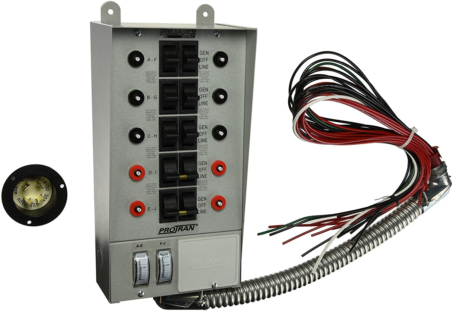 protran transfer switch wiring diagram Download-Amazon Reliance Controls Corporation A Pro Tran 30 Amp At Generator Transfer Switch Wiring Diagram 20-b