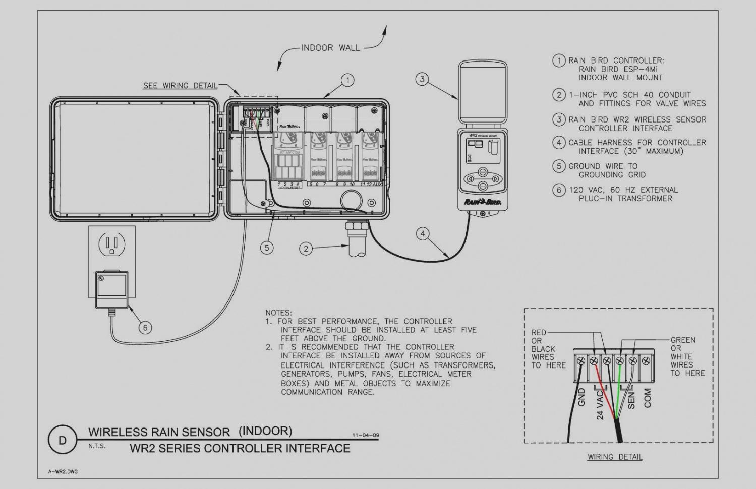 rain bird esp modular wiring diagram Download-Wiring Diagram Detail Name rain bird esp modular wiring diagram – Elegant Sprinkler System Wiring Diagram Rain Bird CAD Detail 9-g
