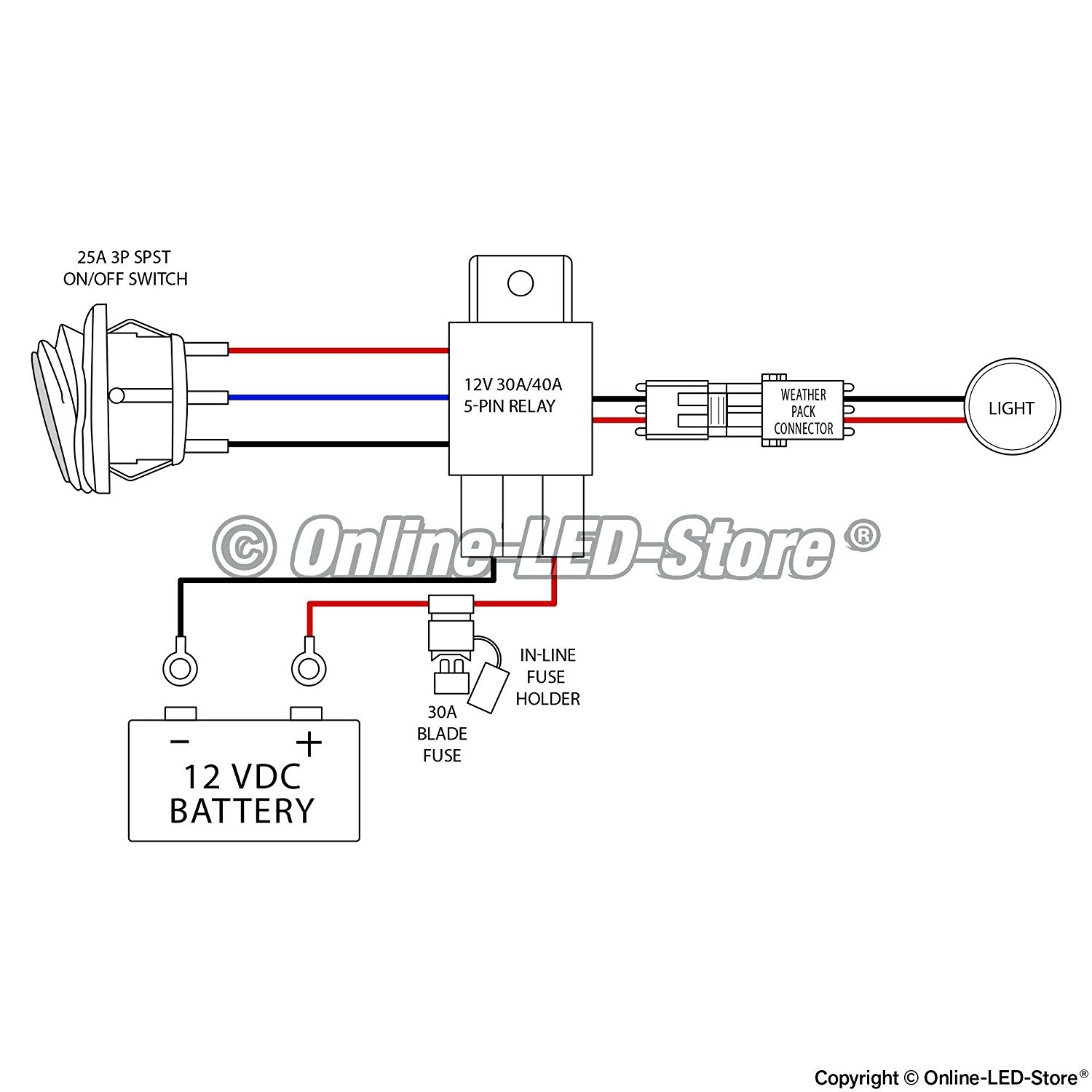 recon tailgate light bar wiring diagram - 40 amp relay wiring diagram  elegant cute mictuning wiring